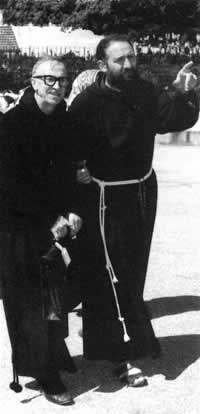 Father Pio Dellepiane and Father Andrea D'Ascanio - Fatima 1972